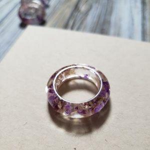 Handmade 💜🌸💜 Pink and Purple Flower Resin Ring